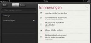 """""""Reminders"""" unter iOS 5 auf dem iPad"""